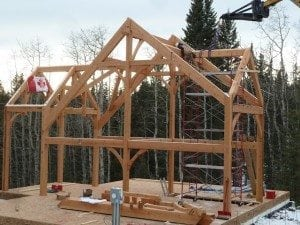 timber frame progress in canada