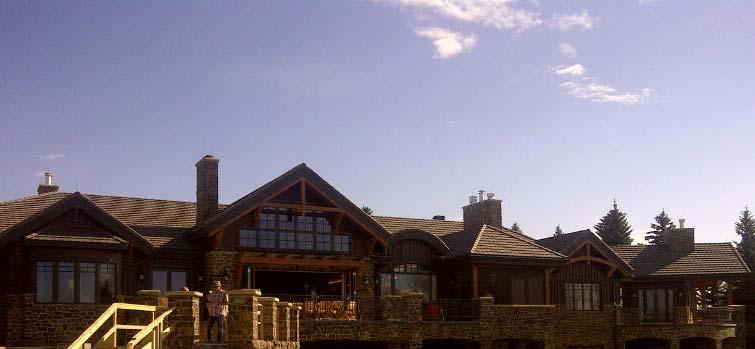 alberta Timber home Exterior