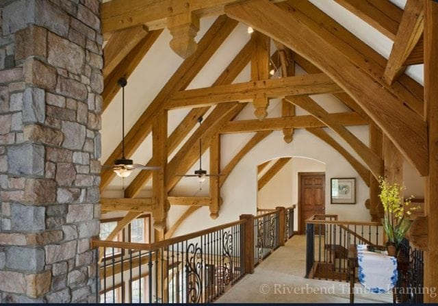 repeating timber frame trusses