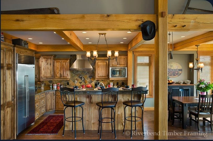 Kitchen with Timber Framing