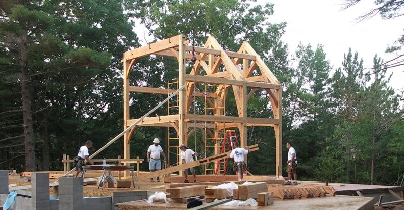 Raising of a Timber Frame