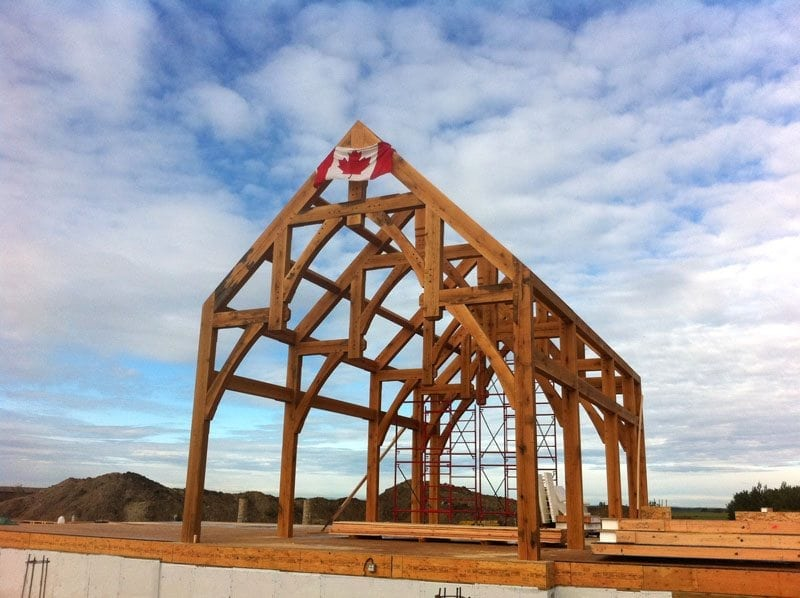 timber frame in canada riverbend