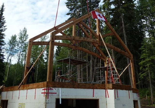 timber frame home in canada