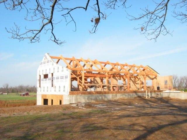 kentucky custom timber frame home