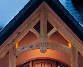 exterior entryway truss