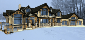alberta timber frame home rendering