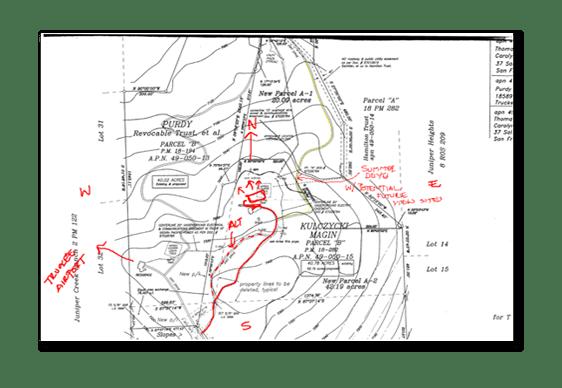 site topographic map