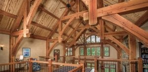 Lofts allow you to enjoy the beauty of timber framing up close