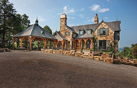 french country timber frame exterior