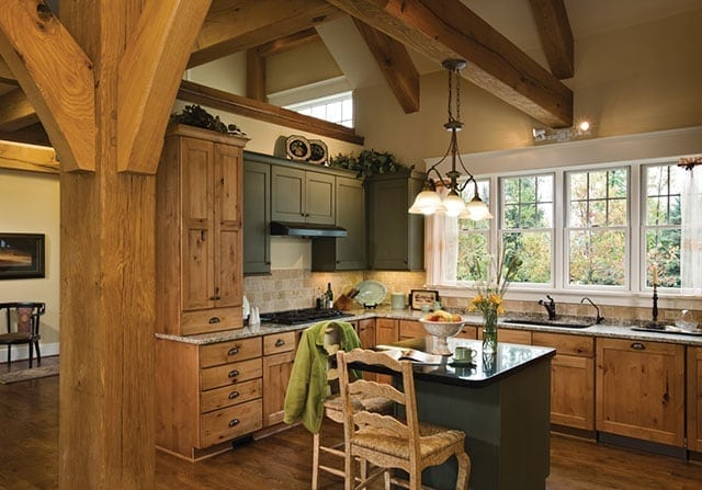 Design to Budget - custom timber frame home kitchen