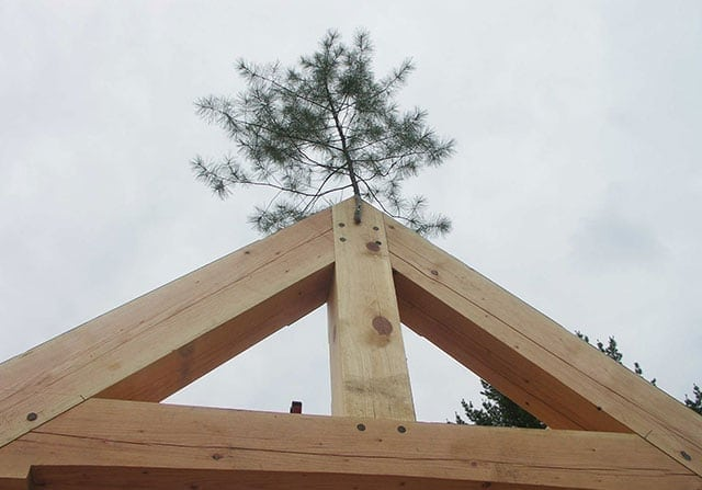 Craftsmanship - timber frame topping out ceremony