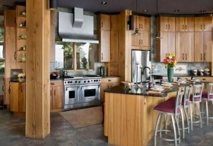 timber frame home kitchen video