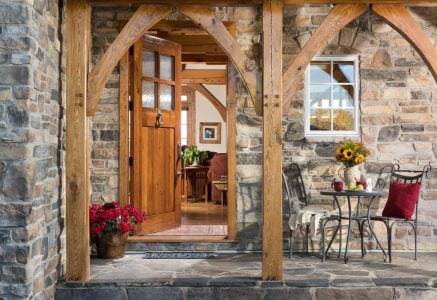 airdrie-timber-frame-entry.jpg - Custom timber frame home