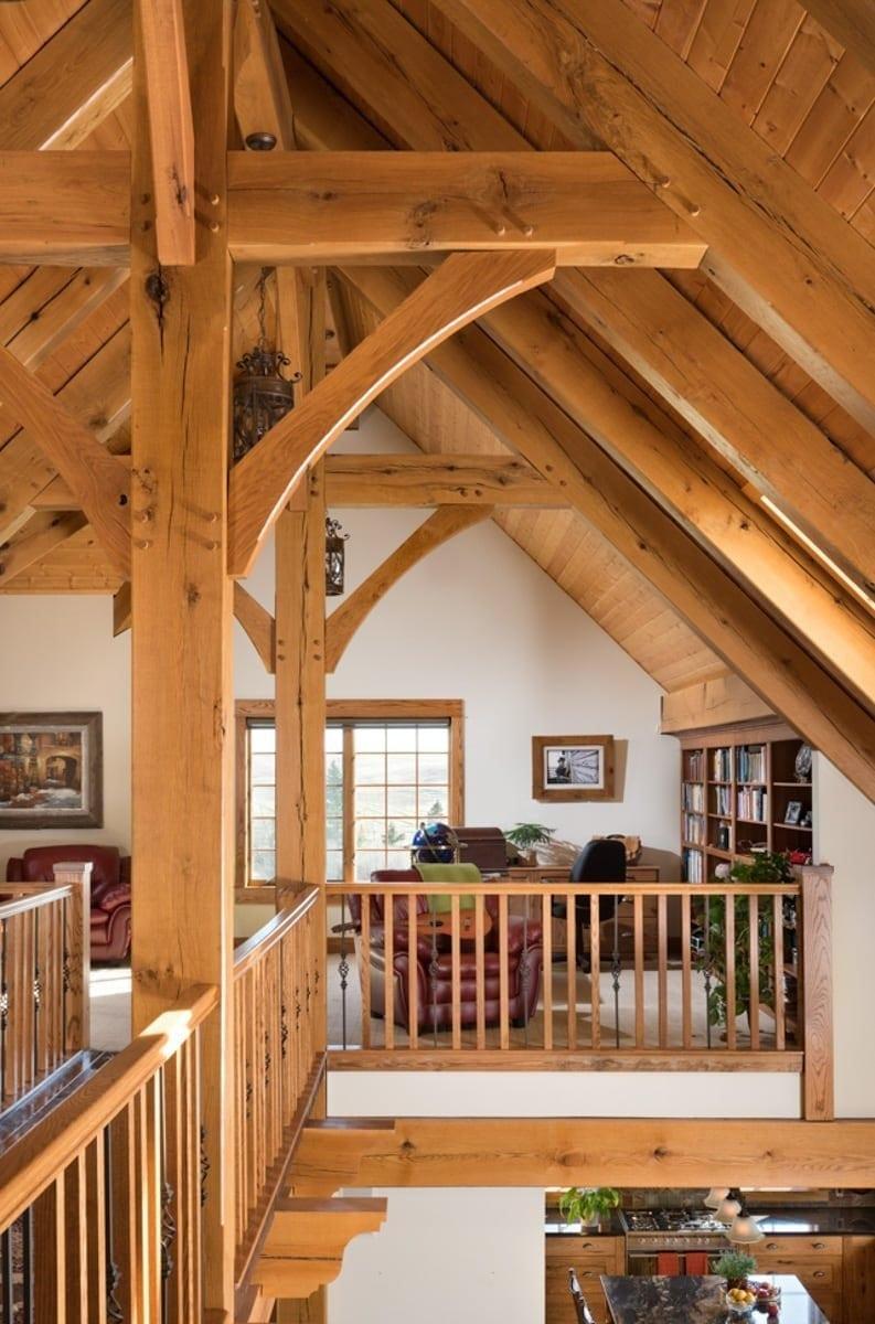 Timber Frame Loft Photos | Riverbend