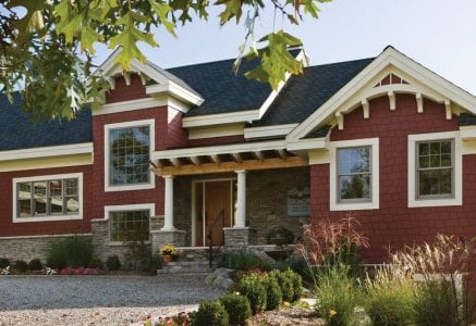 ann-arbor-timber-frame-entryh.jpg - LEED Platinum certified Michigan home by Riverbend