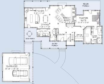 Asheville Main Floor Plan