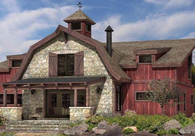 Barlow timber barn home floor plan