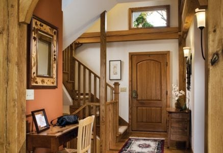 blind-lake-foyer.jpg - timber frame foyer