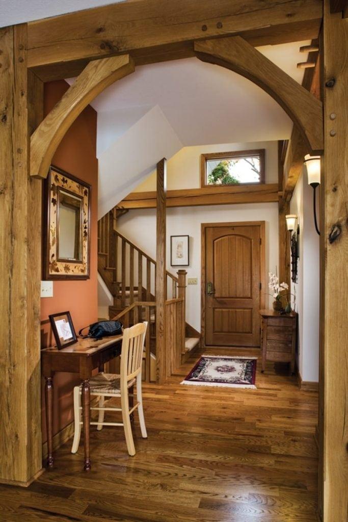 timber frame foyer