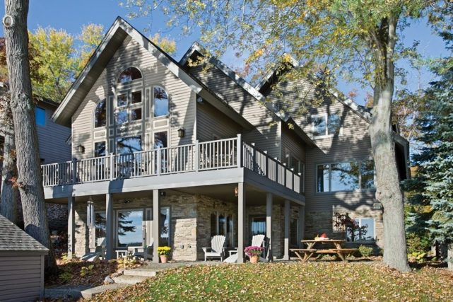 timber frame lake home