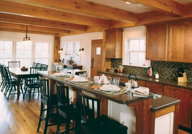 timber frame dining area