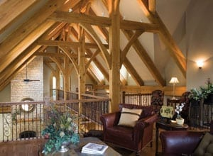 Timber Frame in Loft