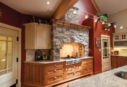 calgary-kitchen1.jpg - kitchen in timber frame home