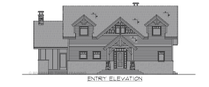 Cattail Lodge - Front elevation