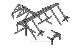 Cattail Lodge - Timber Skeleton