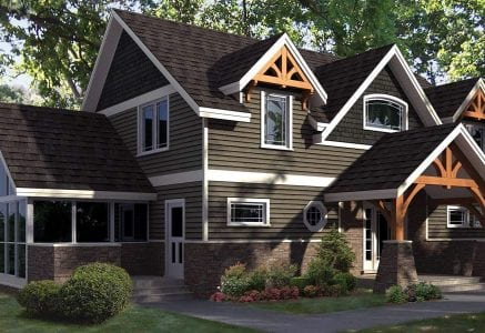 Cattail Lodge timber house plan