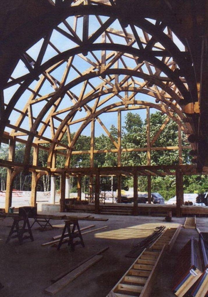 custom timber frame barn