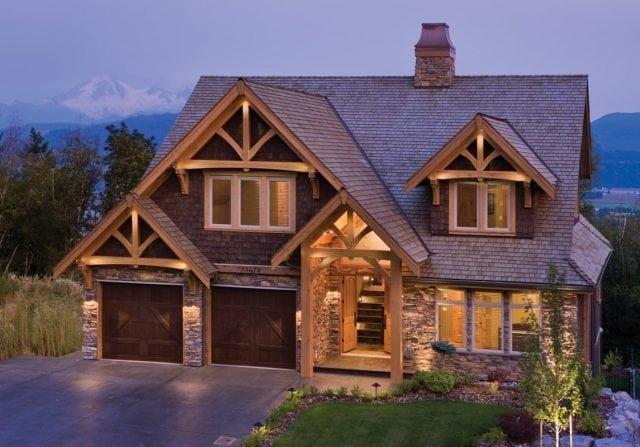 timber frame exterior