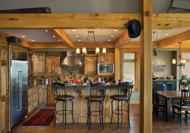 timber frame kitchen