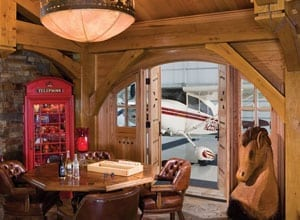 Airplane Hanager in a Timber Frame Home