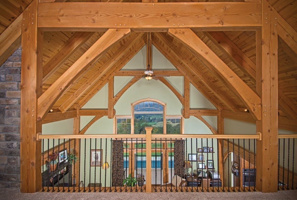 west virginia timber frame loft