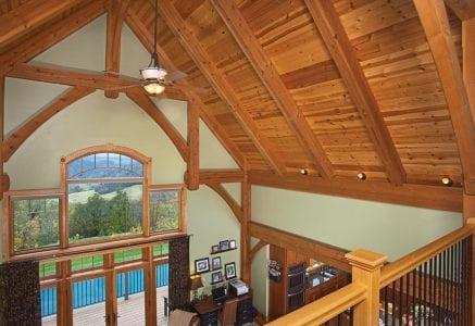 fairmont-timber-frame-rafters.jpg - west virginia timber frame loft