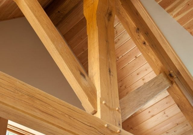 perfect definition of a traditional timber frame truss