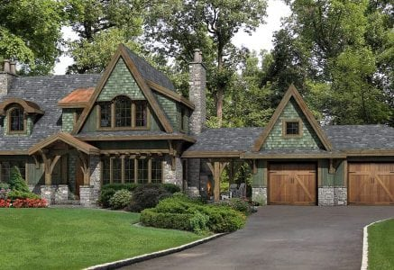 Foxwood tudor timber home floor plan