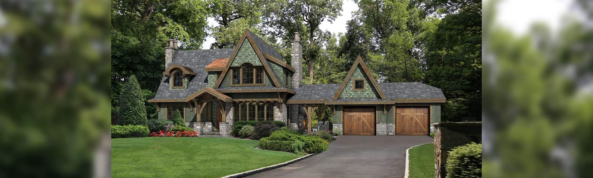 Foxwood tudor timber home floor plan