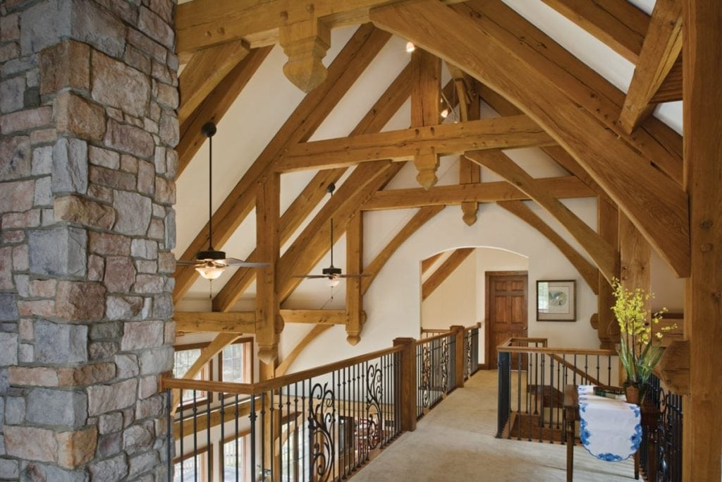 timber frame catwalk