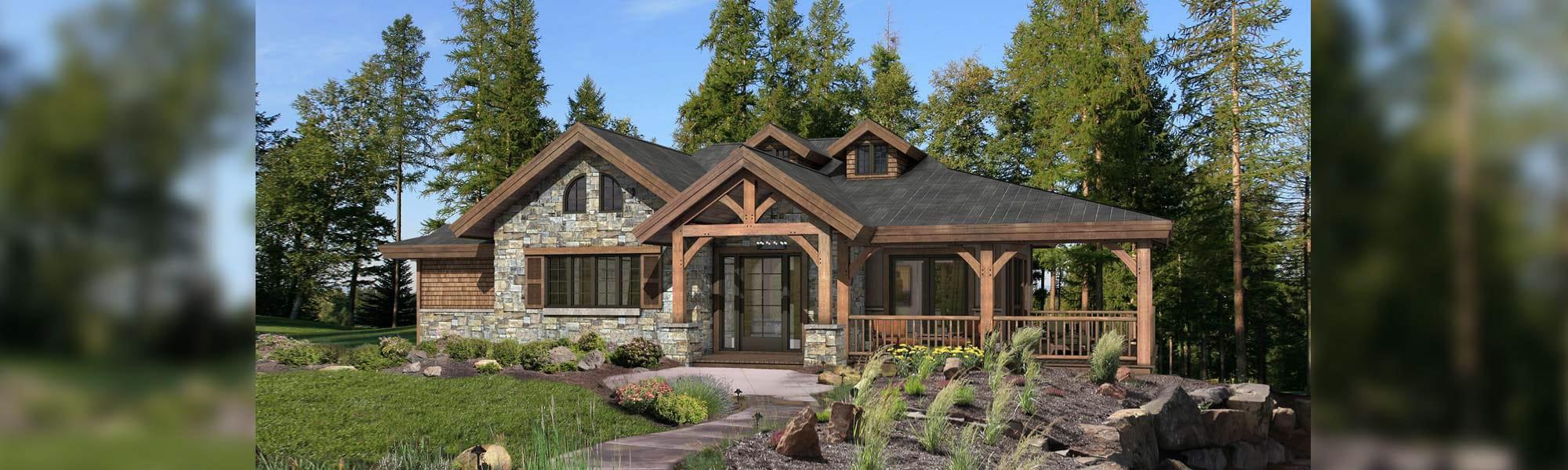 Grandview timber frame cottage design