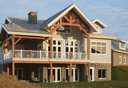 Hamilton timber frame house plan