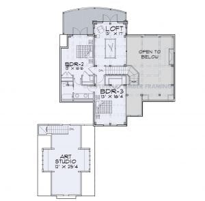 Hickory Lakes - Hickory Lakes second story floor plan