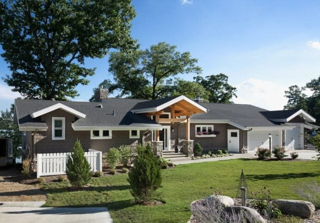 craftsman style timber home