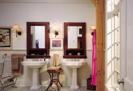 lake-michigan-bathroom.jpg - twin pedestal sinks luxury bath riverbend