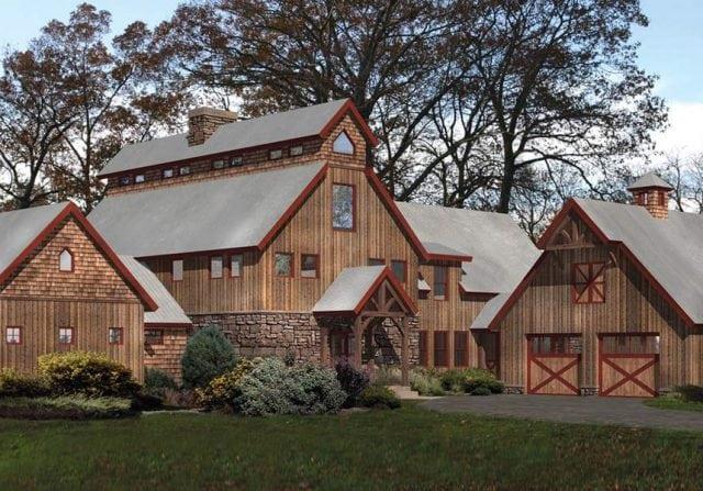 Lancaster timber barn home design