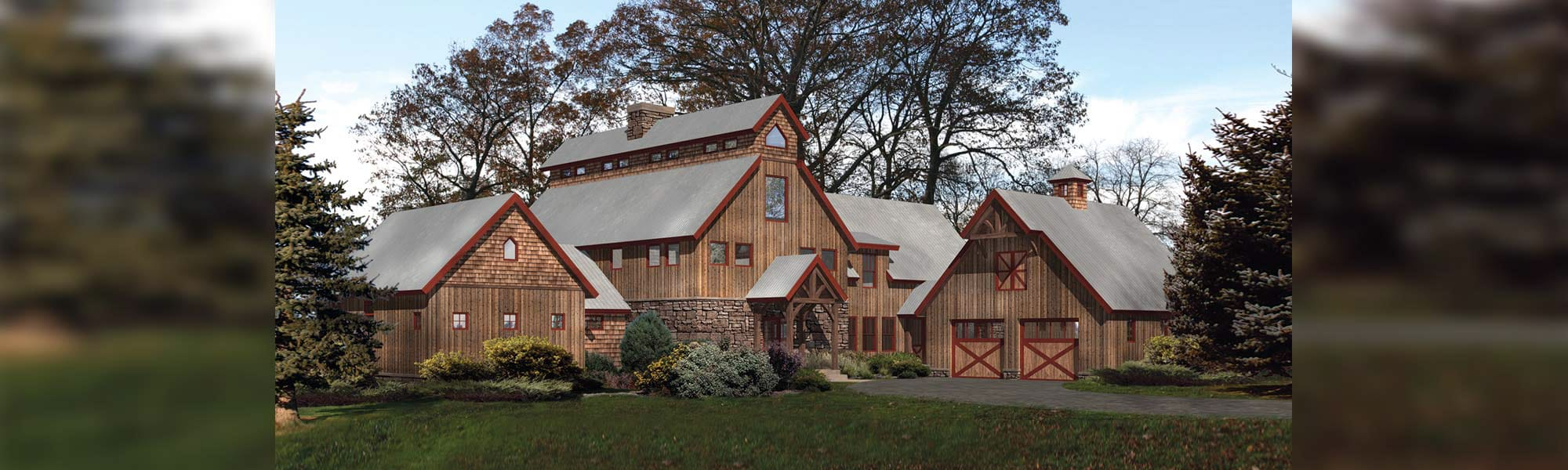Lancaster timber barn home design