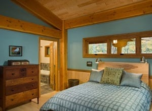 Master Bedroom in a Timber Frame Home