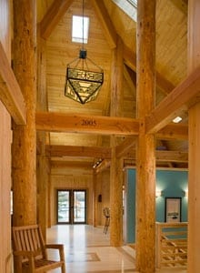 Timber Frame Home Entry