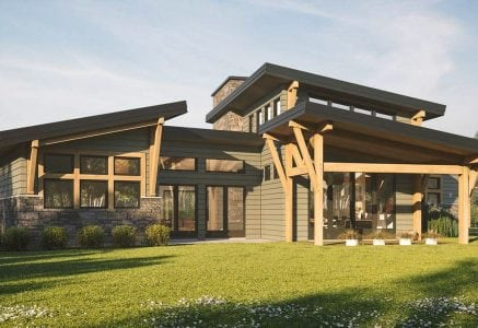 Madrona modern timber plan